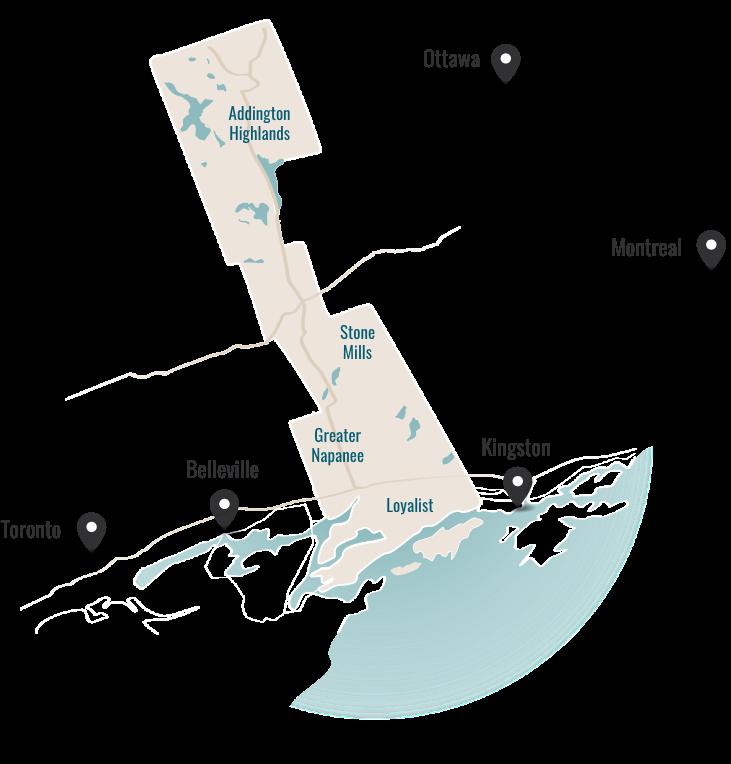 Lennox & Addington County Map